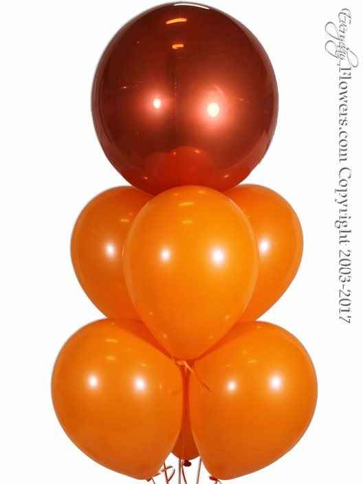 Orange Balloon Bouquet