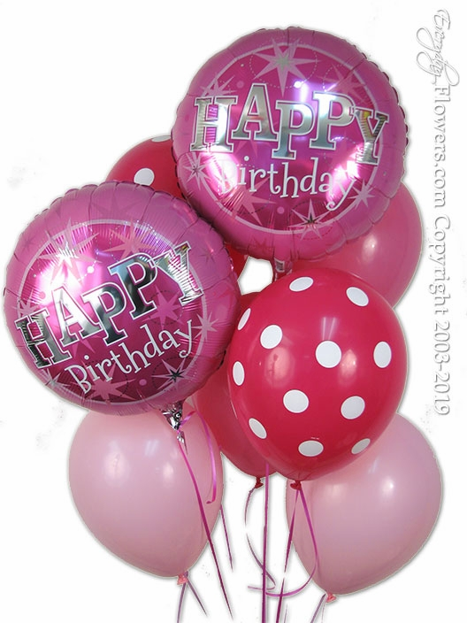 Pink Birthday Balloons Zoom