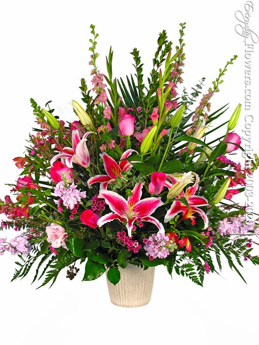 Pink Flowers Tribute