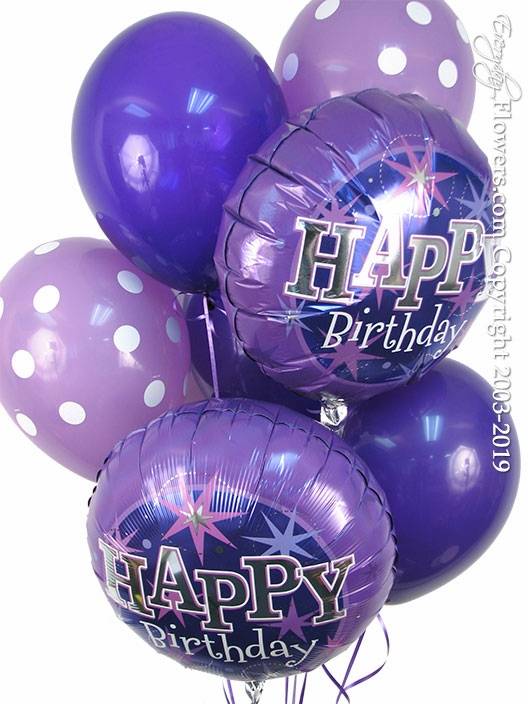 Purple Birthday Balloons