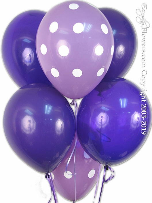 Purple Latex Balloons Variety
