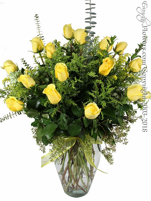 Two Dozen Yellow Roses
