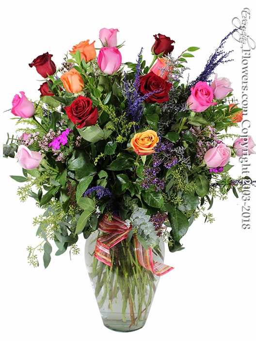 Two Dozen Mixed Roses
