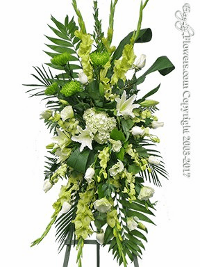 Green Funeral Spray