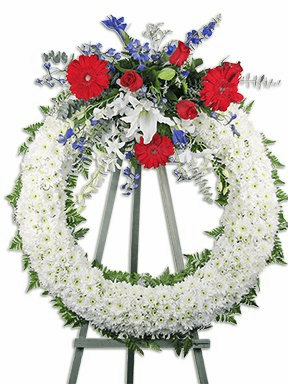Patriotic Flowers Wreath
