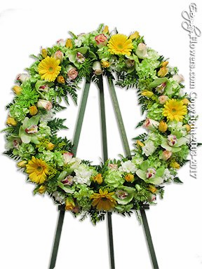 Green Sympathy Wreath