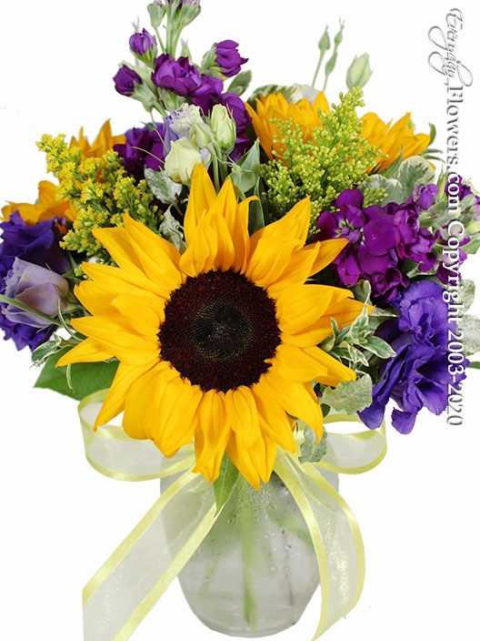 "Sunflowers and Lisianthus <p style=""color:red;"">Sold Out</p>"