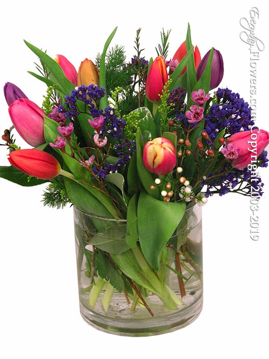 Ten Mixed Tulips