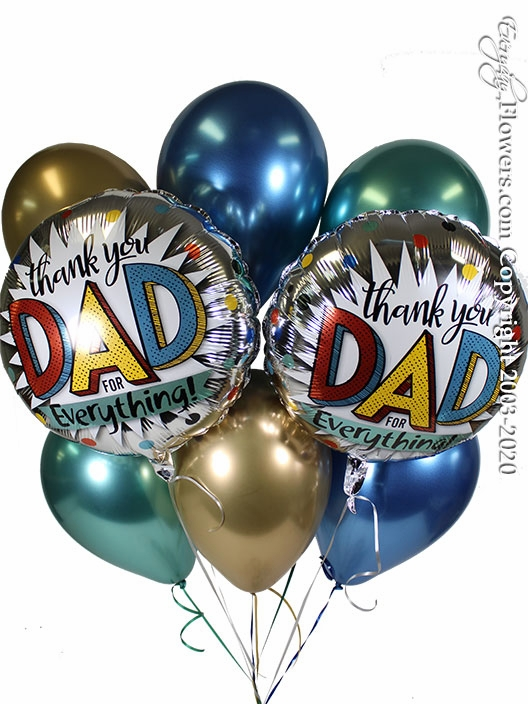Thank You Dad For Everything Balloons