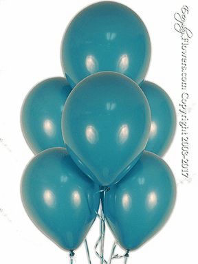 Tropical Teal Balloons