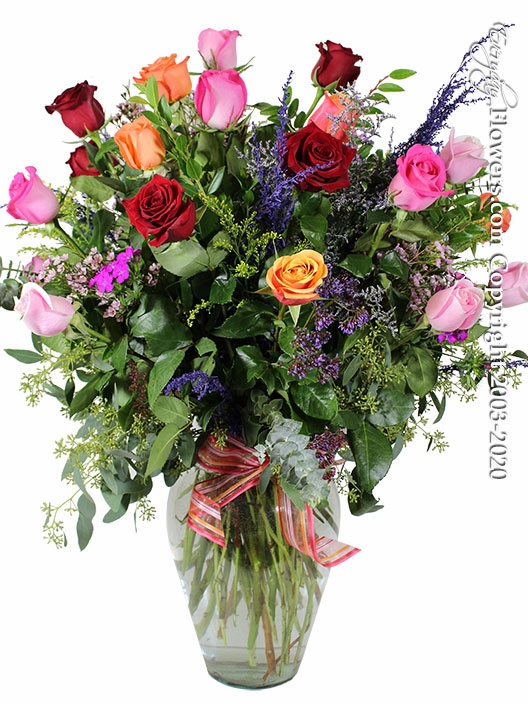 "Two Dozen Mixed Roses<p style=""color:red;"">Not Available For Valentines Week</p>"