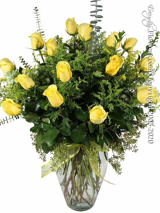 "Two Dozen Yellow Roses<p style=""color:red;"">Not Available For Valentines Week</p>"