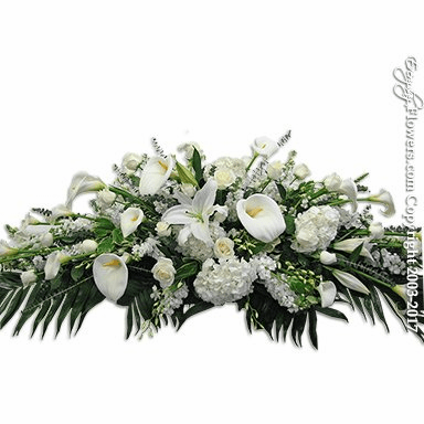 White Casket Flowers