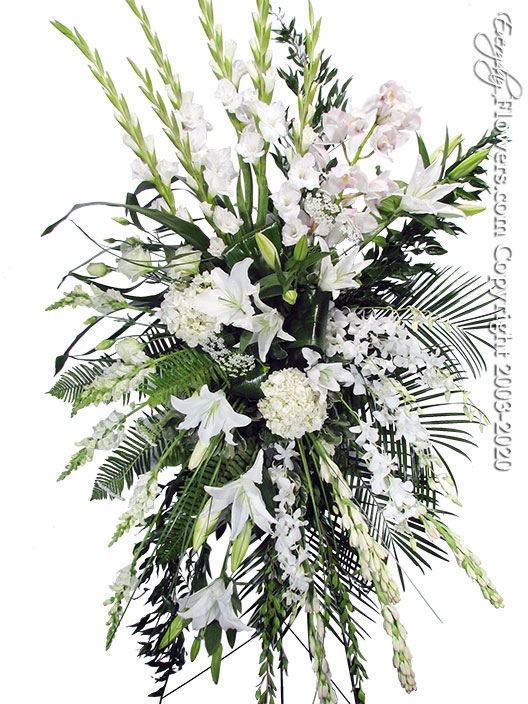 "White Tribute Spray <p style=""color:red;"">Please Contact Us For Availability</p>"
