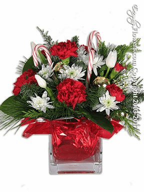 Candy Cane Christmas Flowers