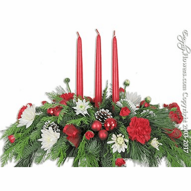 "Christmas Three Candle Centerpiece <p style=""color:red;"">Sold Out</p>"