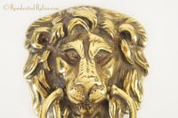 Cast brass lion head door knocker, circa 1920s