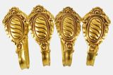 Set of 4 Spanish brass curtain tiebacks, circa 1930s