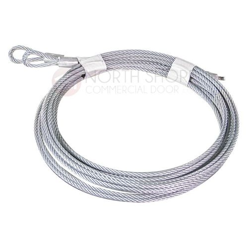 "1/8"" Cable set for 10' High Garage Door with Torsion Springs 140"""