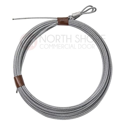 "3/32"" Cable set for 7' high Garage door with torsion springs 104"""