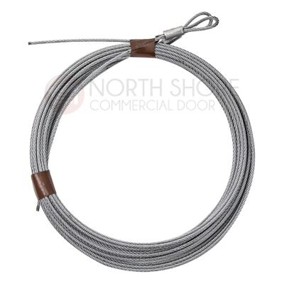 """3/32"""" Cable set for 7' high Garage door with torsion springs 104"""""""