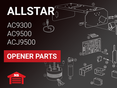 Allstar Model AC9300 AC9500 ACJ9500 Opener Parts