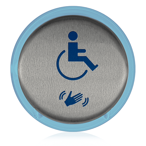 BEA 6-Inch Round MagicSwitch Touchless Plate w/Handicap Logo & Waving Hand Symbol ONLY Illuminated LED 10MS21HRLL