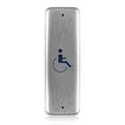 "BEA 1.75"" x 4.5"" Jamb Push Plate w/blue Handicap Logo only 10PBJMSLL MICROSWITCH hardwired"