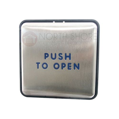 """BEA Panther 4.75"""" Square Push Plate Assembly """"Push to Open"""" 10EMS475"""