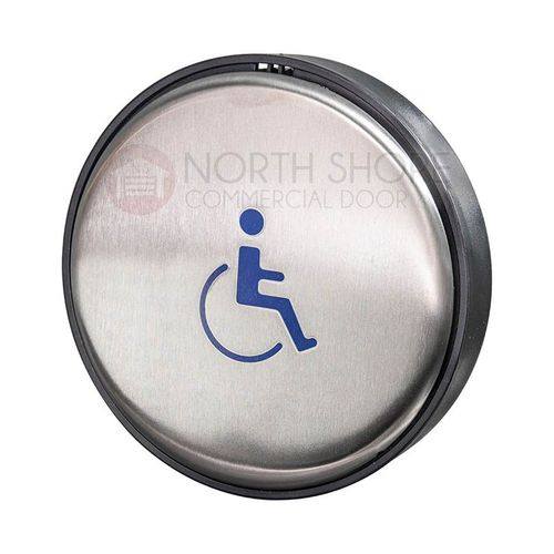 BEA Panther 6-in. Round Push Plate Assembly Handicap Logo 10EMR6L