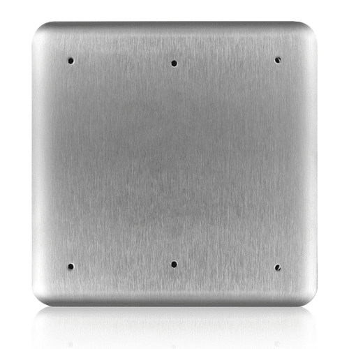 "BEA Square Push Plate 6"" w/Plain Face 10PBS610"