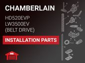Chamberlain HD520EVP LW3500EV Installation Parts