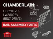 Chamberlain HD520EVP LW3500EV Rail Assembly Parts
