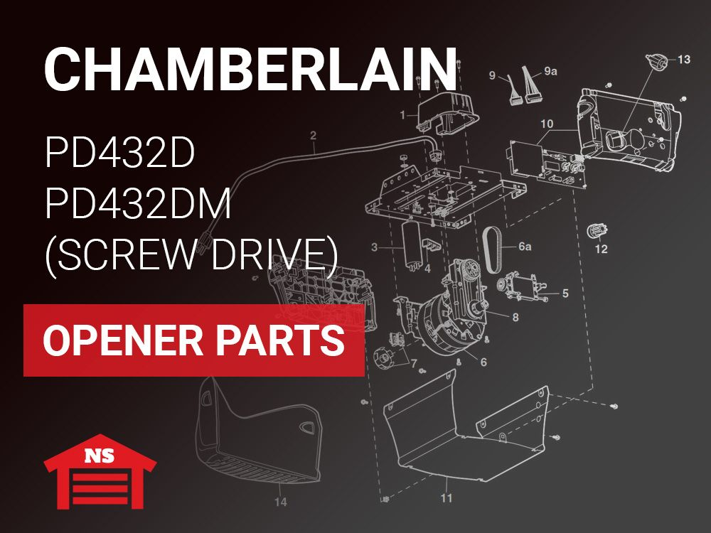 Chamberlain Pd432d Pd432dm Screw Drive Replacement Parts