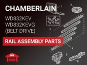 Chamberlain WD832KEV WD832KEVG Rail Assembly Parts