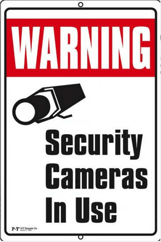 Chateau C-1218-WSC Warning Security Cameras in Use Sign