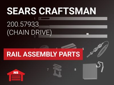 Craftsman Model 200.57933 Rail Assembly Parts