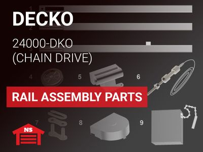 Decko Model 24000-DKO Rail Assembly Parts