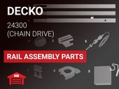 Decko Model 24300 Rail Assembly Parts