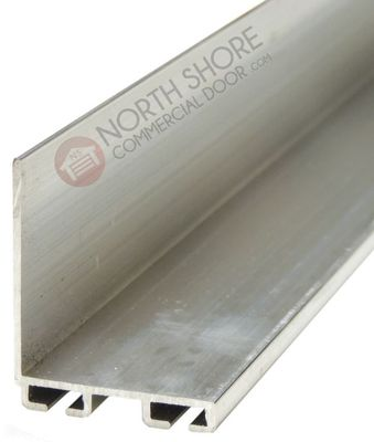 "Garage Door 1 -1/2 "" X 1-3/8 ""Aluminum Bottom Seal Retainer"