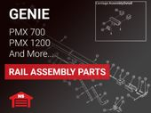 Genie DC Chain and Belt Drive Rail Replacement Parts for PMX 700, PMX 1200, GPS 700IC, and GPS 1200 IC