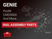 Genie DC Screw Drive Rail Replacement Parts for Models Pro99, CMD9900, H8000, ISD990, ISD995, ISD1000, and QuietLift 4650