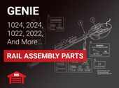 Genie Rhine DC Chain & Belt Drive Rail Parts for Model  1022, 1024, 1042, 2022, 2022-700, 2024, 2027, and 2042