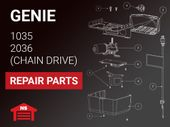Genie Repair Parts for Chain Drive Operators Models 1035 & 2036