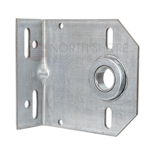 HB438-8G-H Heavy Duty Support Plate, Center Bearing, 8 Gauge, w/1 In Bearing