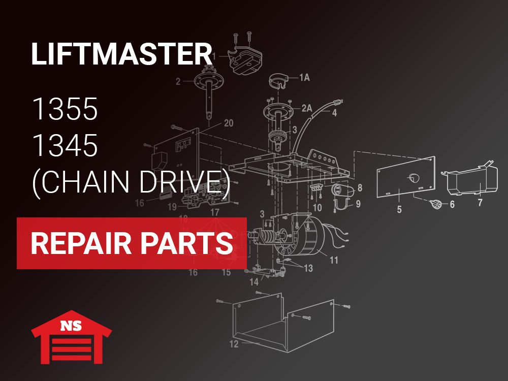 Liftmaster 1355 1345 Garage Door Opener Repair Parts