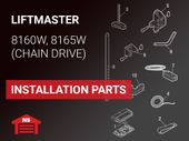 LiftMaster Model 8160W 8165W Installation Parts