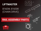 LiftMaster Model 8160W 8165W Rail Assembly Parts