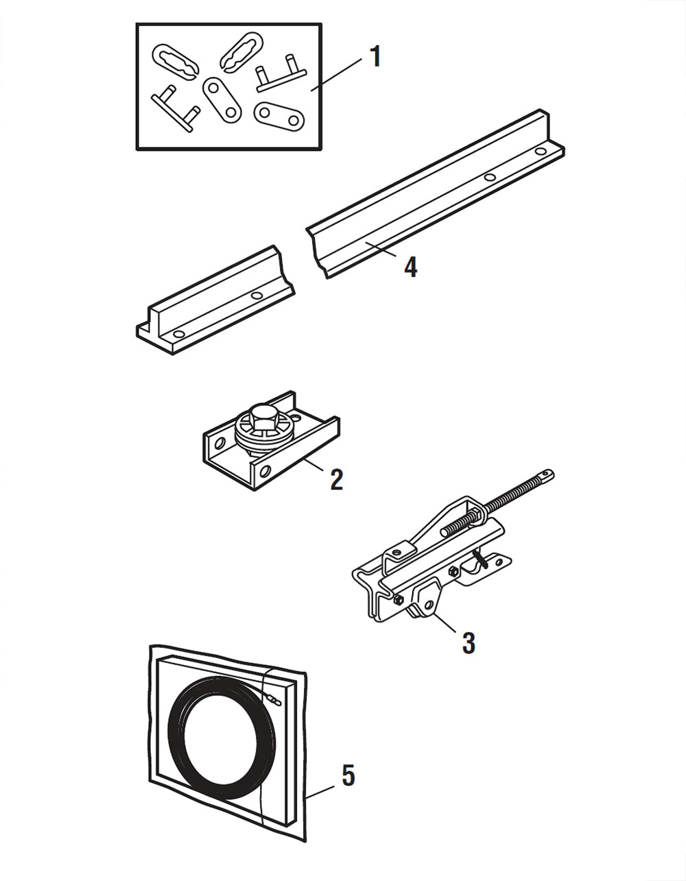 Liftmaster 8164w Rail Assembly Replacement Parts