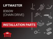 LiftMaster Model 8360W Installation Parts